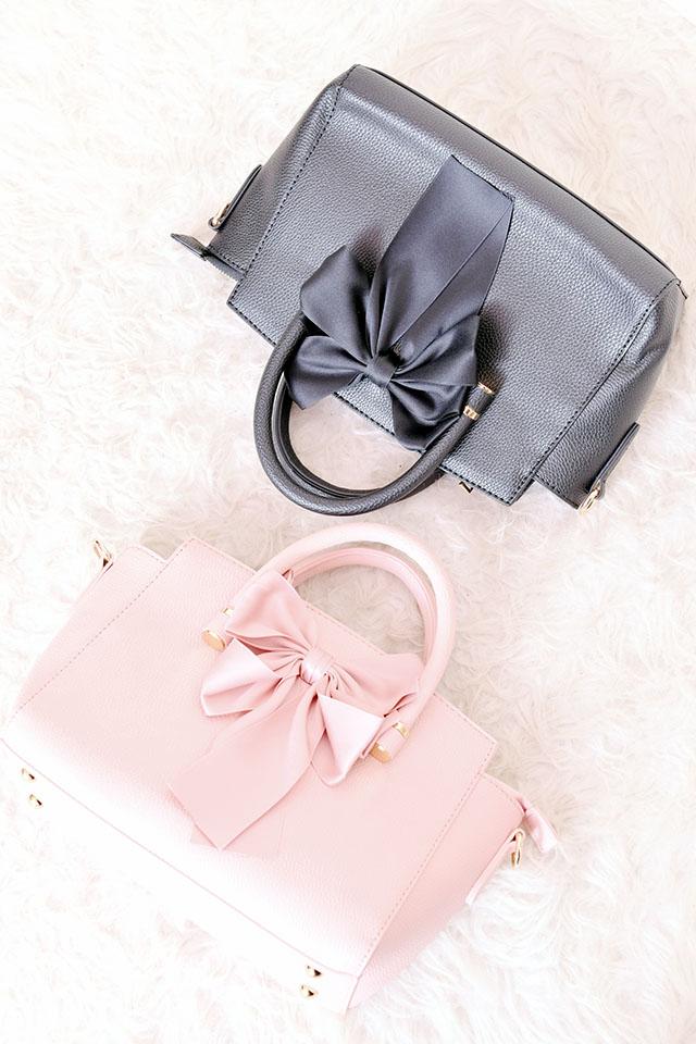 【MA*RS】2WAYサテンリボンBAG - ピンク size-F