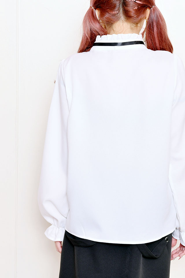 【MA*RS】レースフリルブラウス - ホワイト size-F