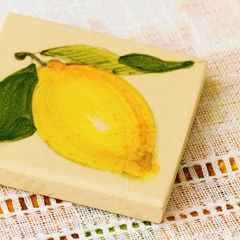 陶器マグネット レモン