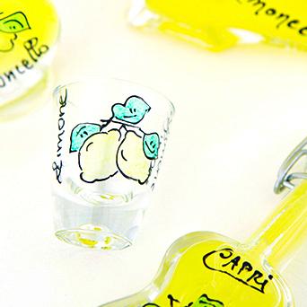 ガラスショットグラス レモン