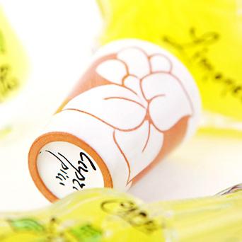 陶器ショットグラス レモン花 (帯有り)