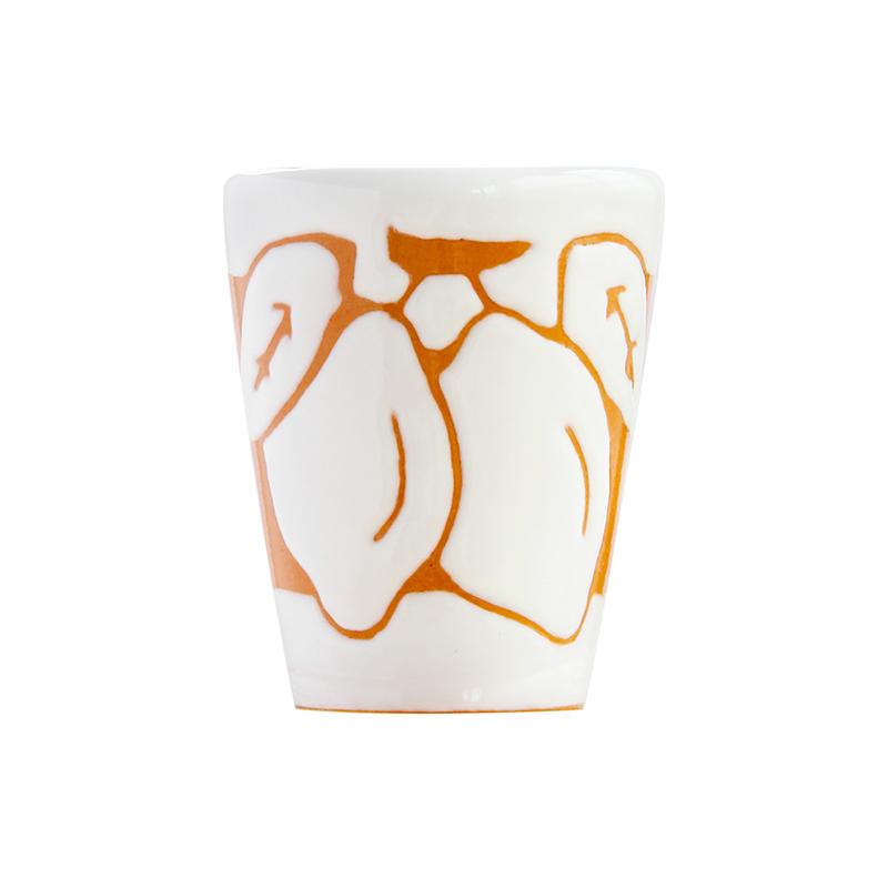陶器ショットグラス レモン2個 (帯有リ)