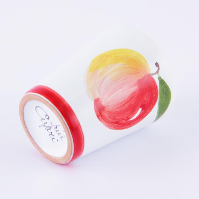 陶器ショットグラス リンゴ 赤