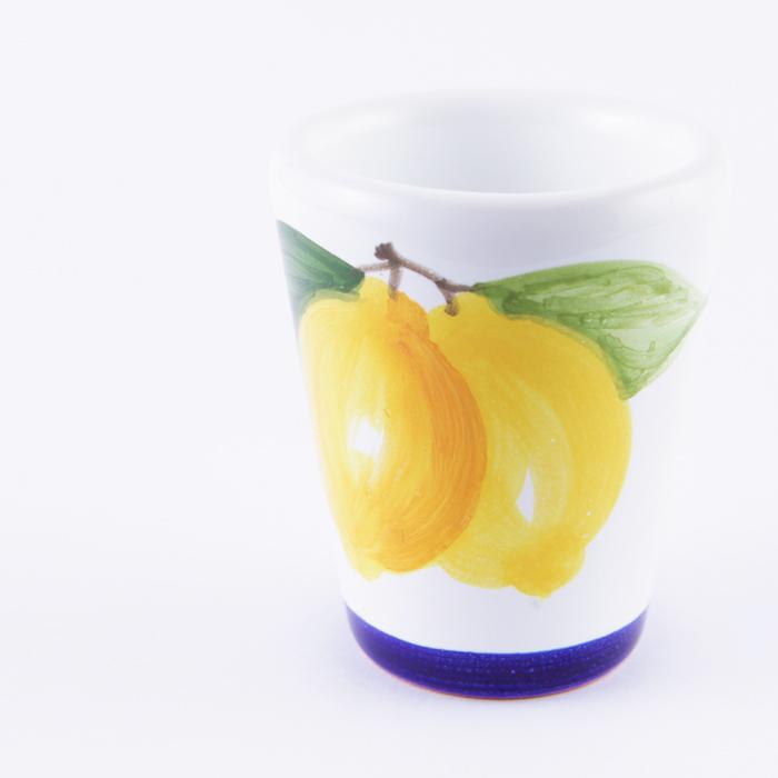 陶器グラス レモン 青