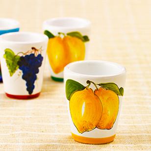 陶器グラス レモン 黄
