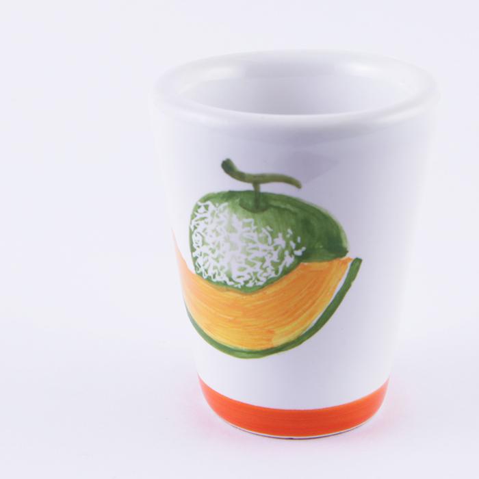 陶器グラス メロン オレンジ