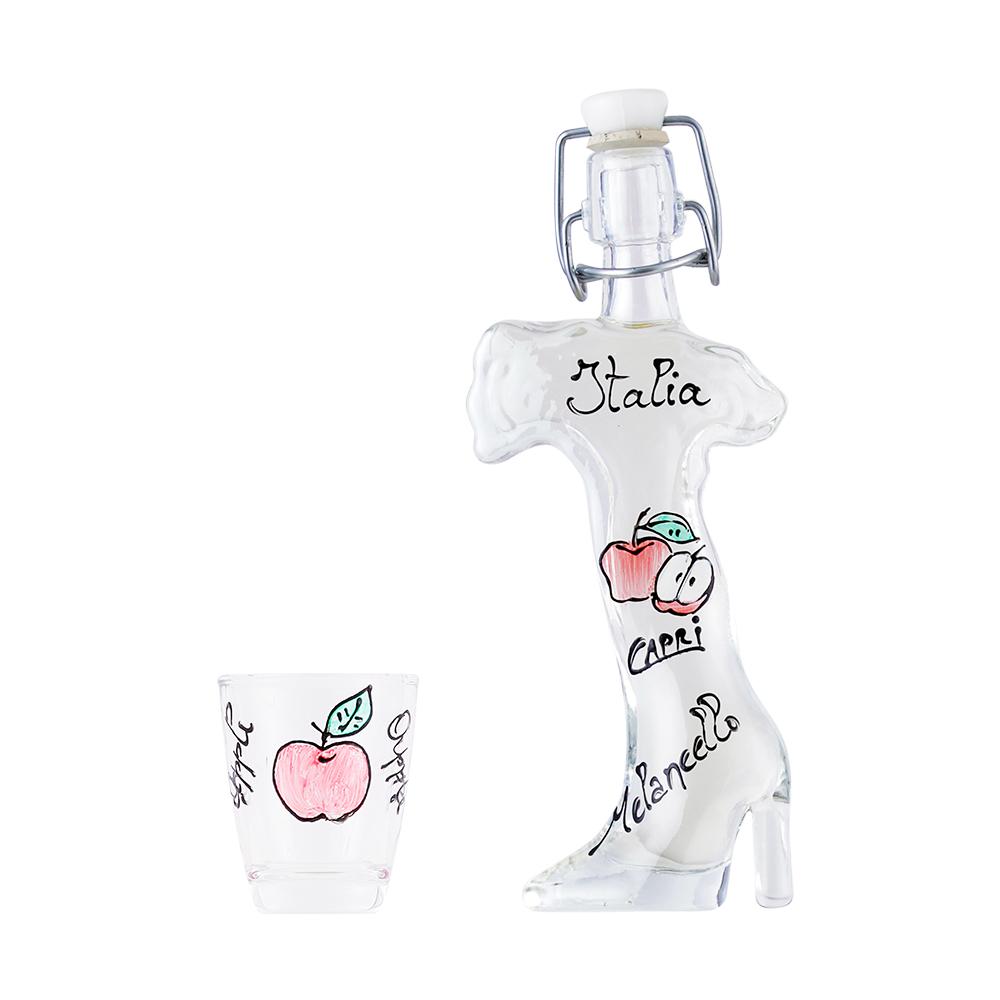 【特別価格】リンゴチェッロ イタリア40ml&りんごガラスグラスセット