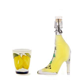 【約28%off】リモンチェッロ 靴 40ml&陶器グラスセット