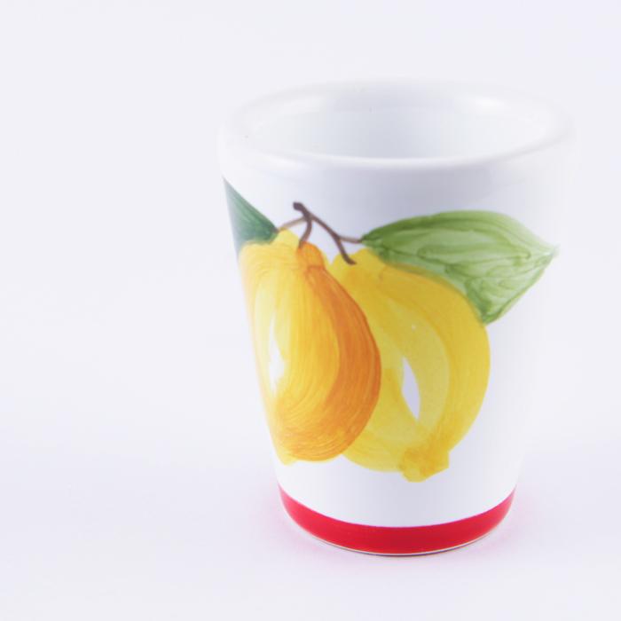 陶器グラス レモン 赤