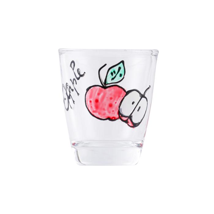 ガラスショットグラス リンゴ2個
