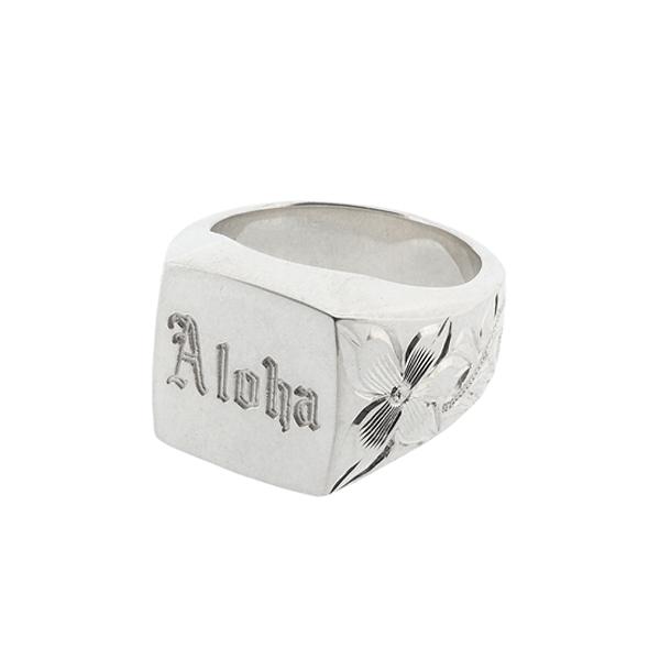 Aloha Ring ハワイアンジュエリー 印台リング