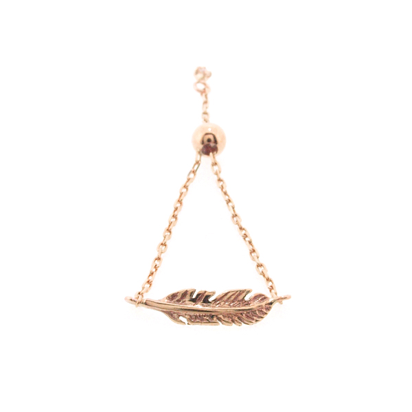 Leap Feather Chain Ring K10PG