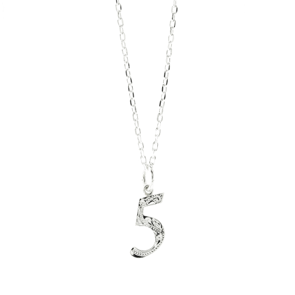 Days Necklace Silver ハワイアンジュエリー ナンバーネックレス 数字 ペンダントトップ