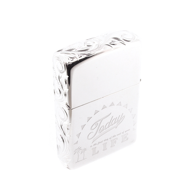 Linamoa Zippo large / Today is the first day of the rest of your life.  ハワイアンジュエリー ジッポーライター
