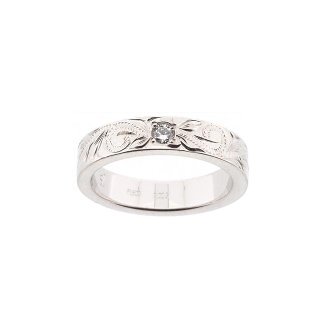 One Diamond Ring ハワイアンジュエリー プラチナリング 指輪 ダイヤモンド