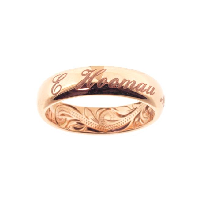 Message Ring K14PG ハワイアンジュエリー インサイドリング 指輪