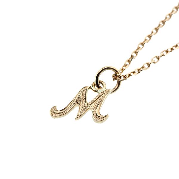 Initial Necklace K10YG ハワイアンジュエリー イニシャルネックレス 頭文字 ペンダントトップ
