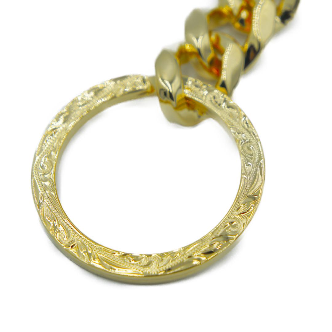 Hawaiian Key Chain Ring Gold ハワイアンジュエリー キーチェーンリング