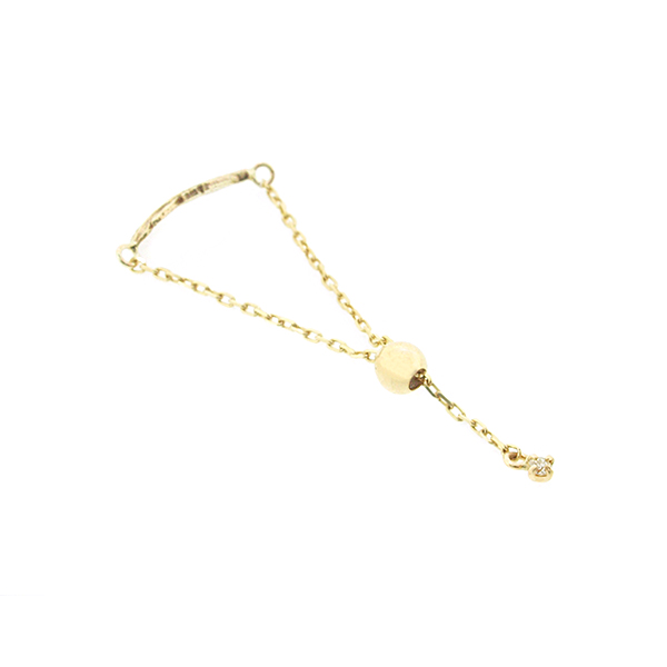 Leap Feather Chain Ring K10YG
