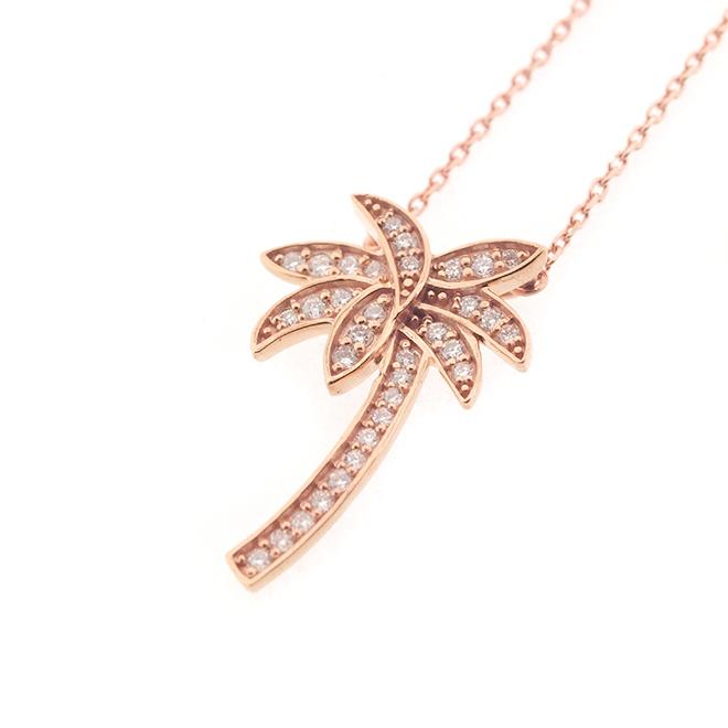 Palm tree Diamond Necklace