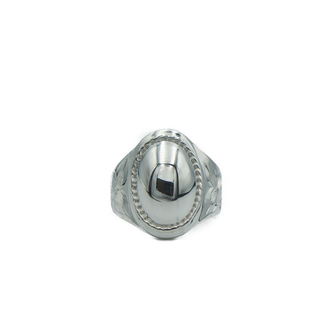Round RopeSeal Ringハワイアンジュエリー シールリング 指輪