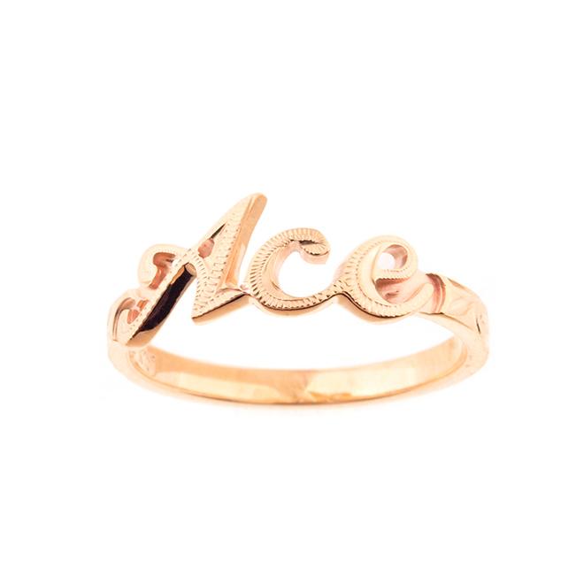 Grateful Name Ring K10PG ハワイアンジュエリー ネームリング 指輪