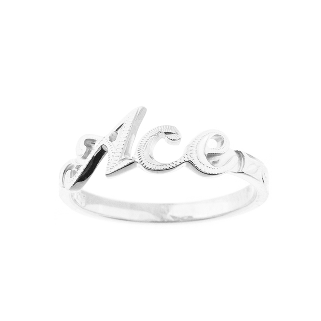 Grateful Name Ring Silver925 ハワイアンジュエリー ネームリング 指輪