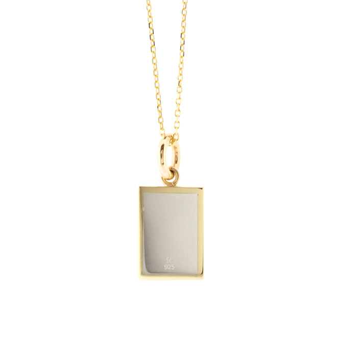 Linamoa×Always sunshine Picture Frame Necklace / Small