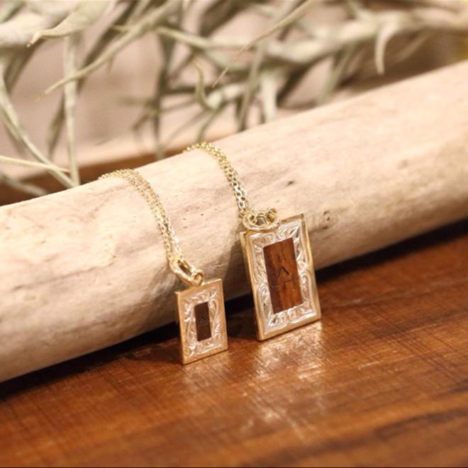 Linamoa×Always sunshine Picture Frame Necklace / Large