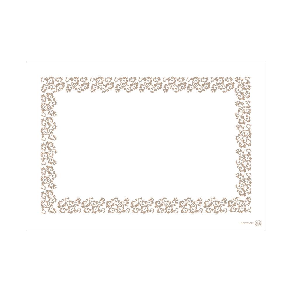 ベルトッツィ テーブルクロス _ アカント グリージョ ホワイト _ (140×200cm)