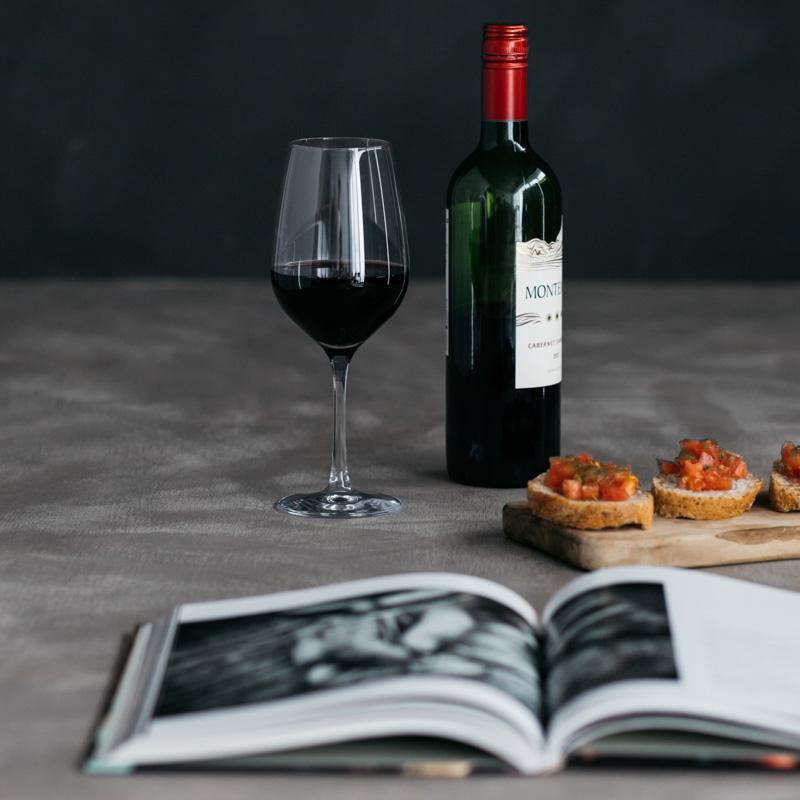 BOHEMIA Cristal _ グラングルメ / ワイングラス(460ml) レッド