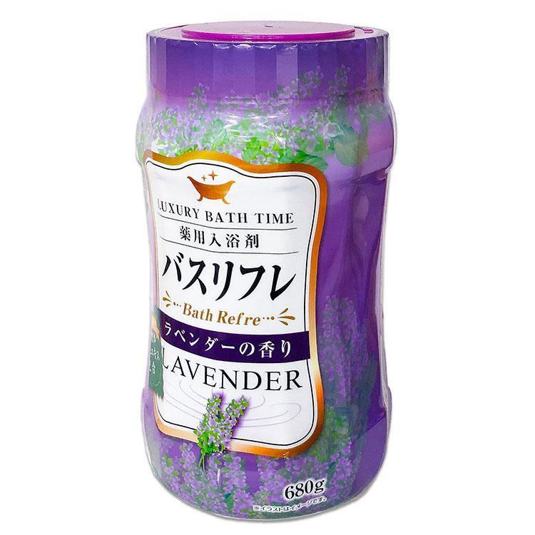 バスリフレ ラベンダーの香り 薬用入浴剤 ローヤルゼリーエキス配合 680g LAVENDER