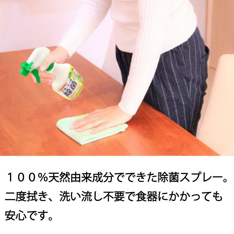 Pix キッチン用アルコール除菌スプレー 100%天然由来成分 食器にかかっても安心 400ml