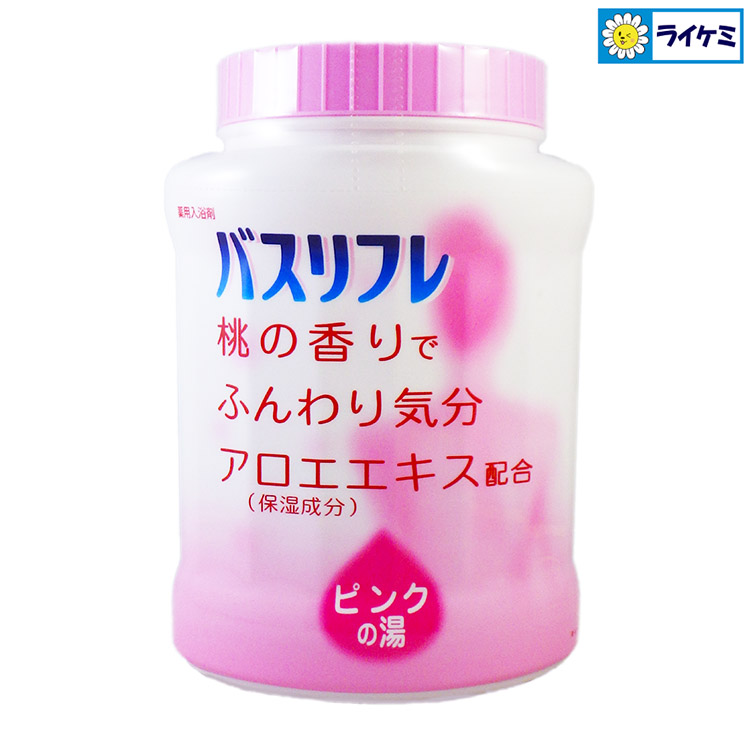バスリフレ 薬用入浴剤 ピンクの湯 桃の香り アロエエキス配合 医薬部外品