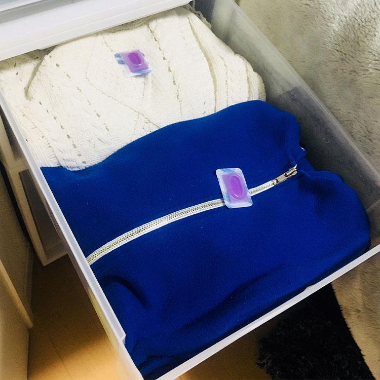ピレウォッシュ においのつかない防虫剤 衣装ケース・引き出し用 24個入(12段分) 衣類の防虫剤