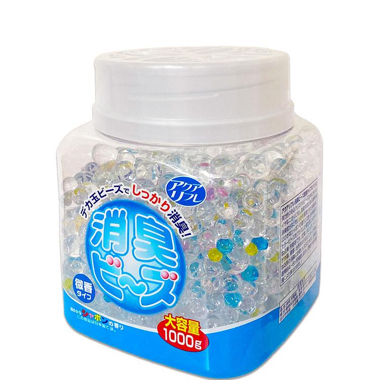 アクアリフレ デカ玉 消臭ビーズ 大容量 1000g 微香タイプ シャボンの香り