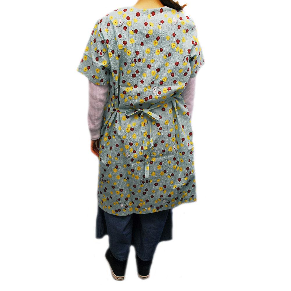 【生産終了品】小花柄サマードレス(ターコイズ)  LG