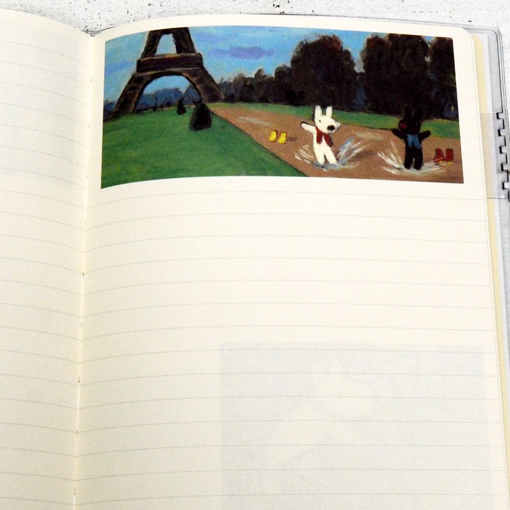 【生産終了品】【10月始まり】2022年 B6マンスリー手帳 リサとガスパール(コラージュ) S2953862 LG