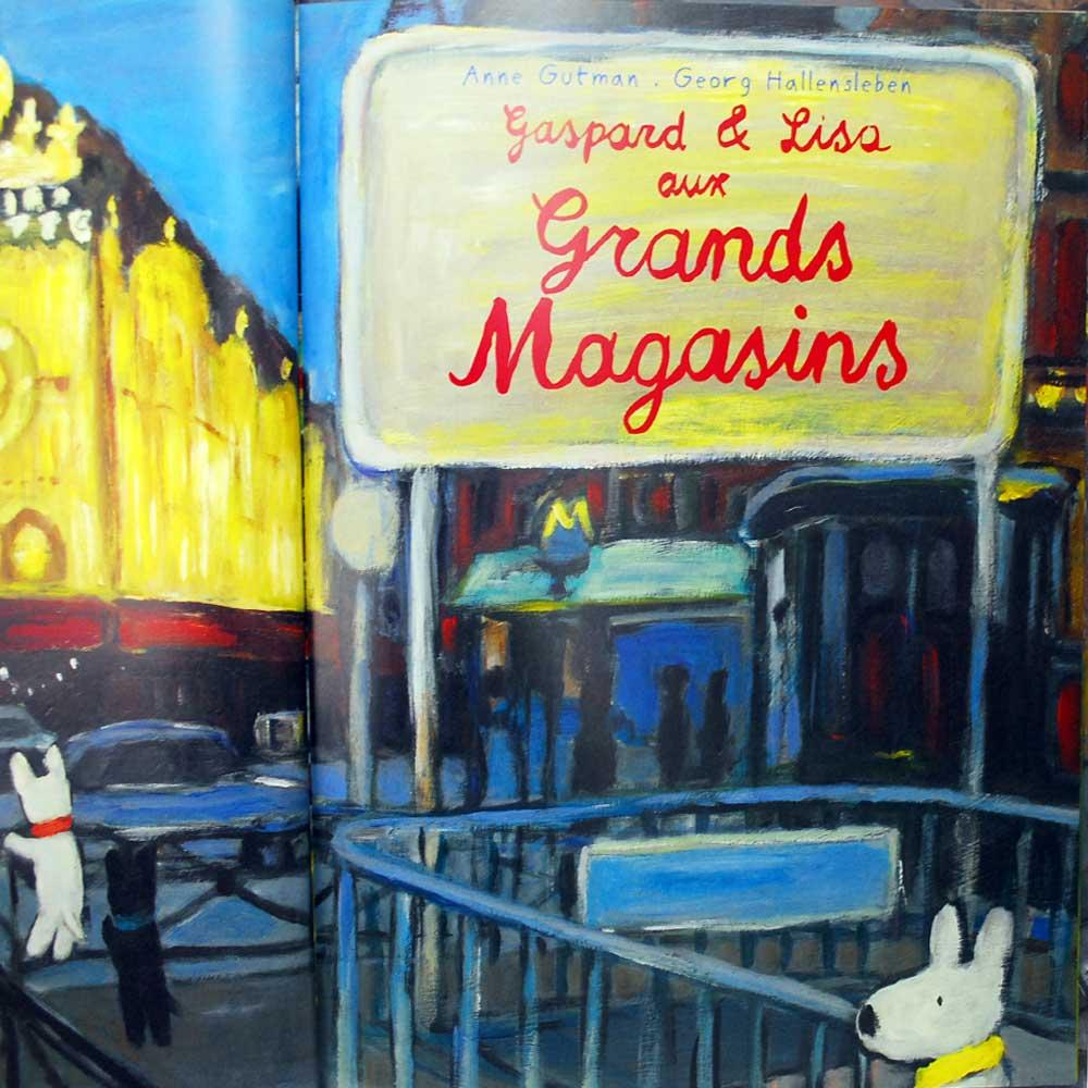 【フランス語のえほん】Gaspard & Lisa Aux Grands Magasins(リサとガスパール デパートのいちにち ) LG