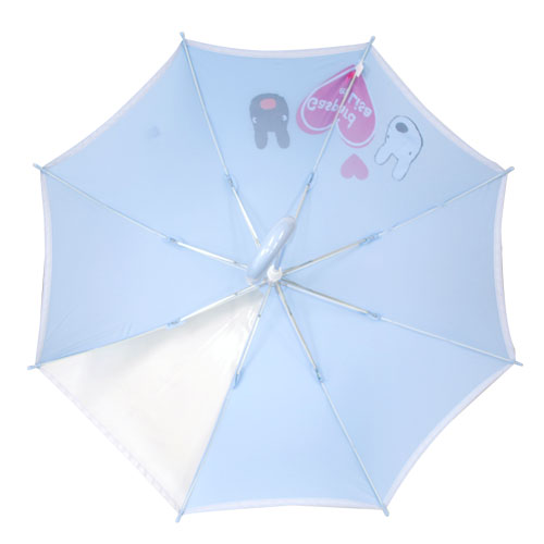 【生産終了品】キッズ長傘(アイラブ・リサガス)水色 50cm LG-113B-70 LG
