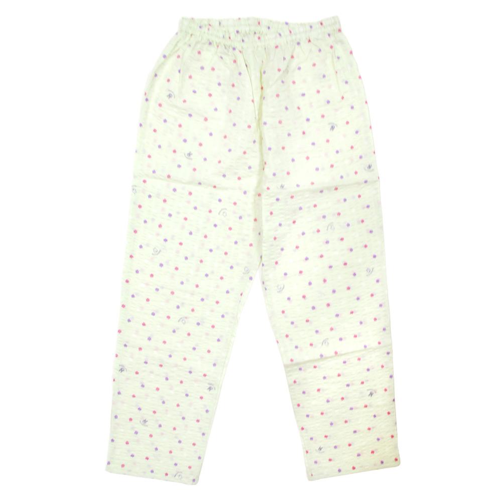 【生産終了品】LIP-1522-30 襟付きパジャマ わたがし水玉(グリーン/レディースM)  LG