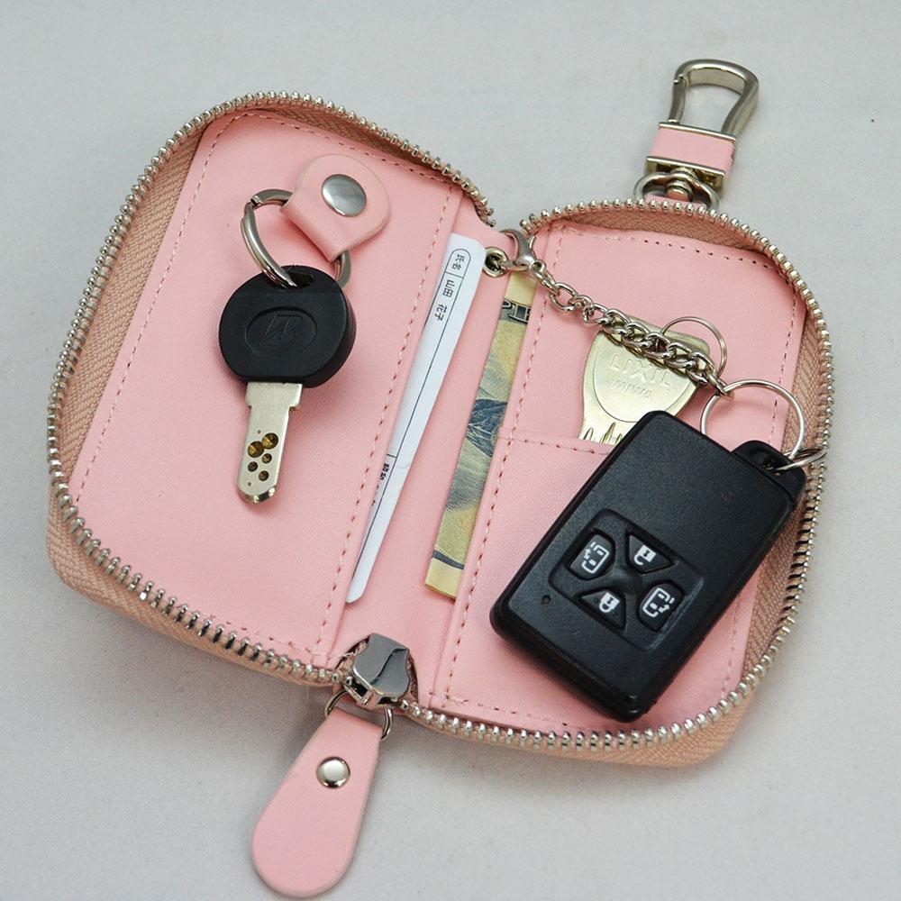 リサとガスパール ちょこっと便利なキーケース(ピンク)  LG