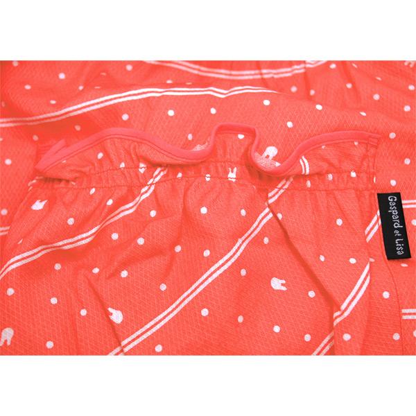 【生産終了品】エプロン 水玉ボーダー(ピンク) LI633-91 LG