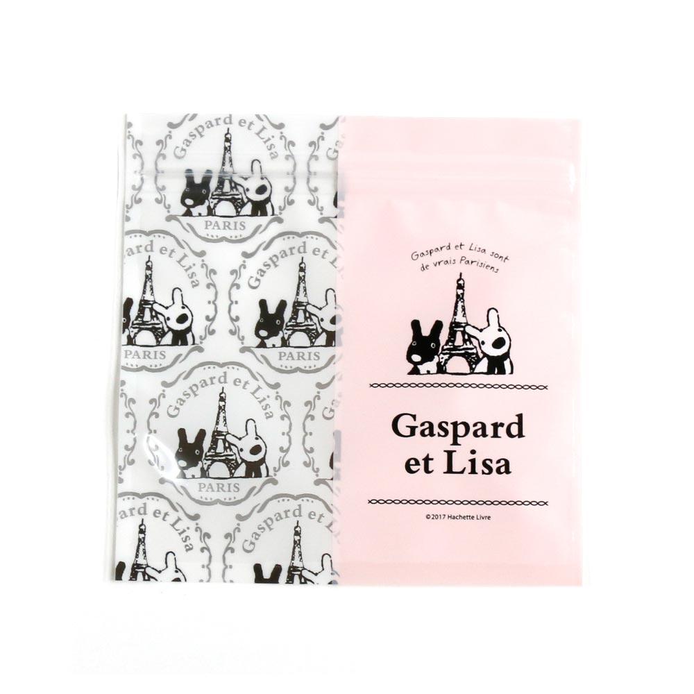 リサとガスパール ジッパーバッグ(ピンク) KL00005-2 LG