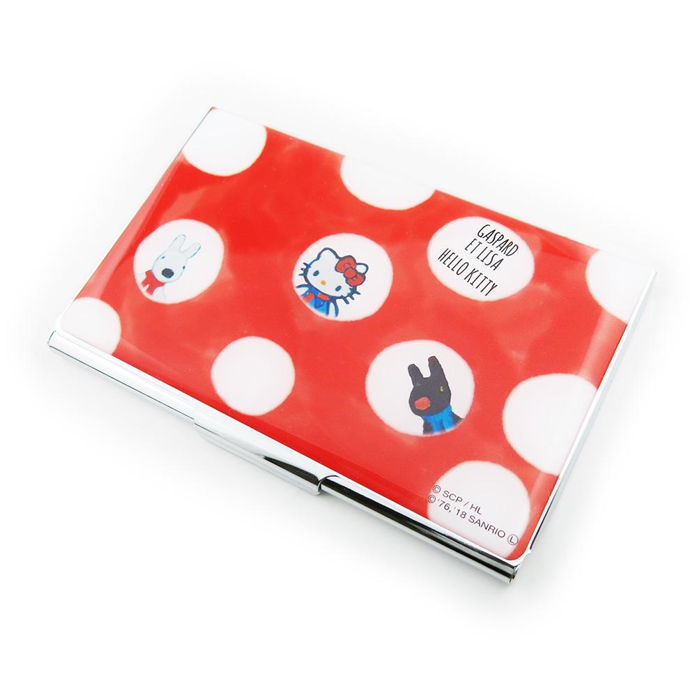 【生産終了品】【ハローキティ×リサとガスパール】カードケース(ドット) TR-#CDC10+LisaKitty2 LG