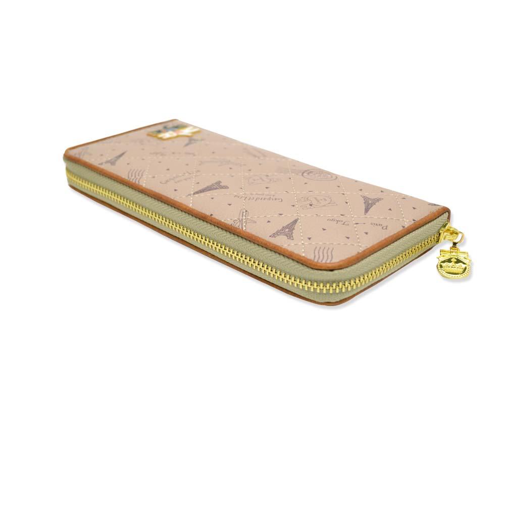 長財布(総柄キルトラウンド)ベージュ GL-0061 LG