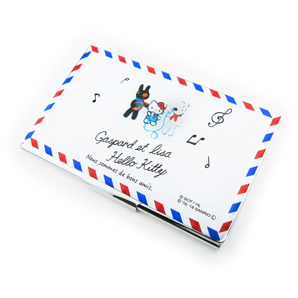 【生産終了品】【ハローキティ×リサとガスパール】カードケース(トリコロール) TR-#CDC10+LisaKitty3 LG