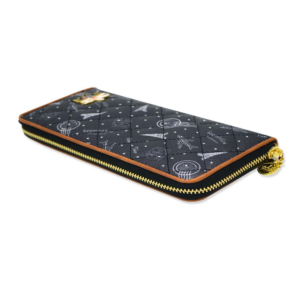 長財布(総柄キルトラウンド)ブラック GL-0061 LG