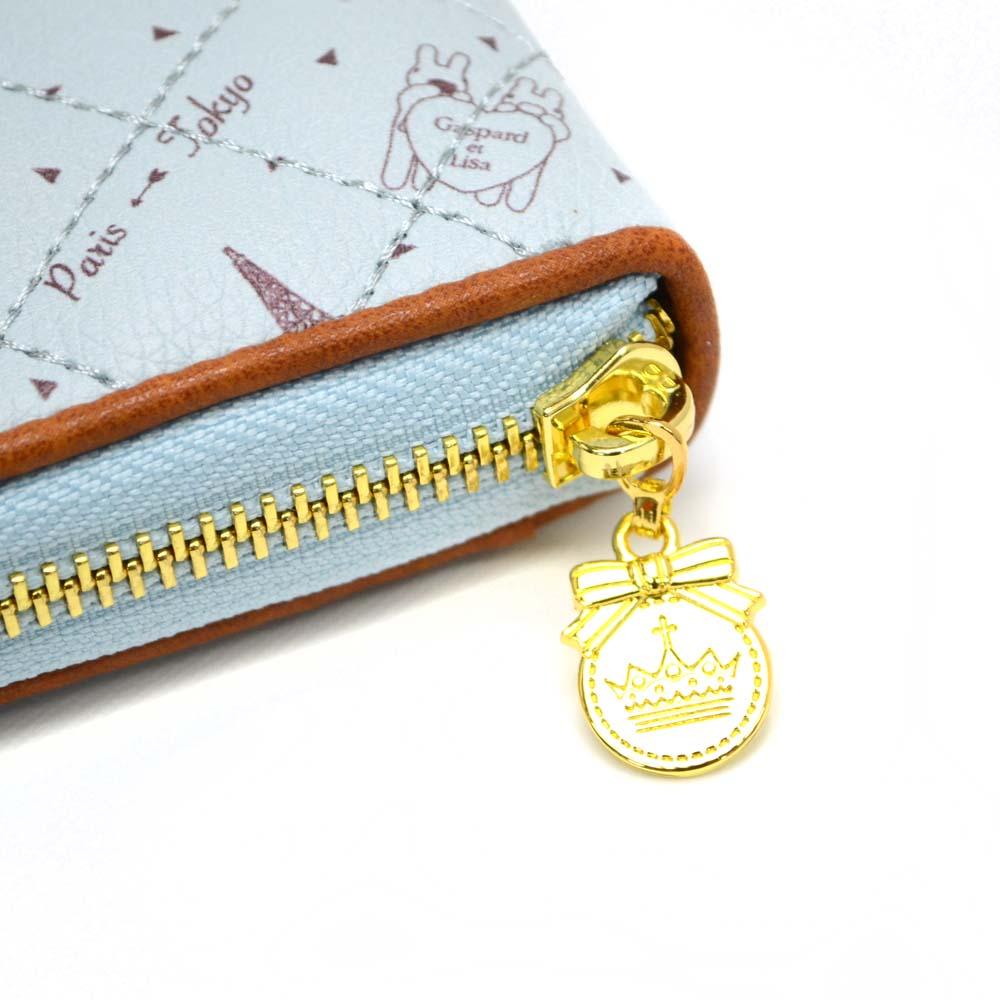 長財布(総柄キルトラウンド)ブルー GL-0061 LG