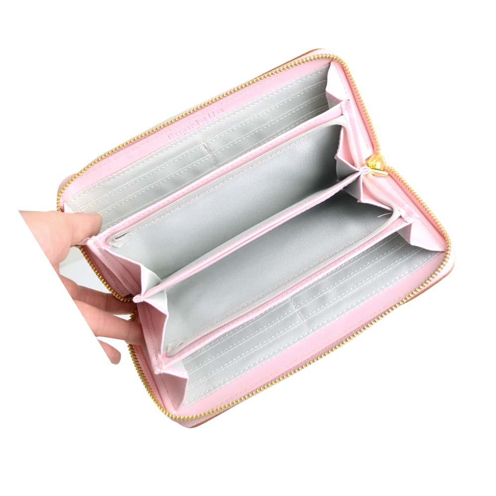 長財布(総柄キルトラウンド)ピンク GL-0061 LG